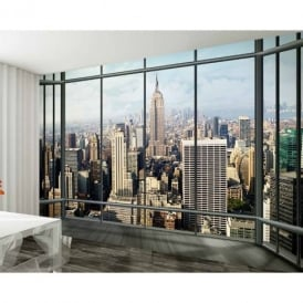 1 Wall New York Window Skyline Giant Wallpaper Mural 3.15 x 2.32m