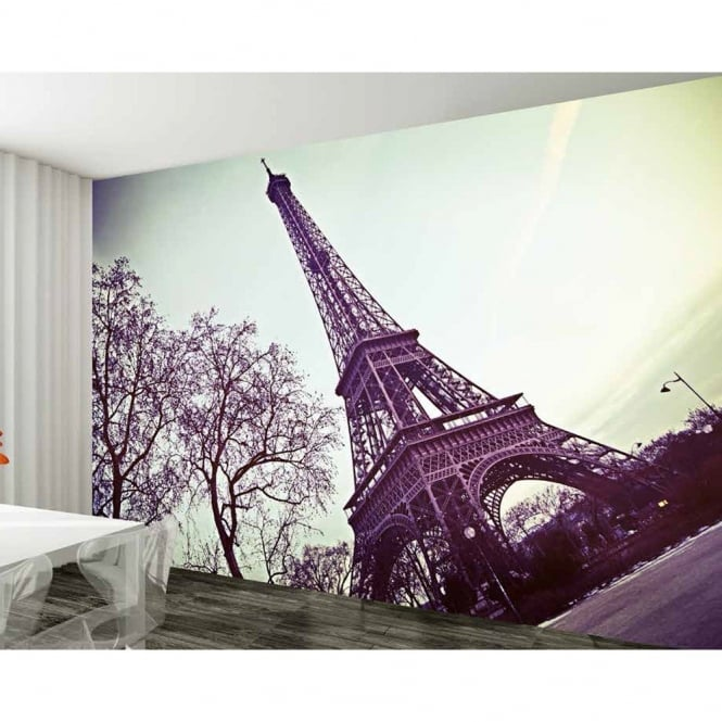 1 wall paris eiffel tower giant wallpaper mural w8p paris 002 for Eiffel tower wallpaper mural
