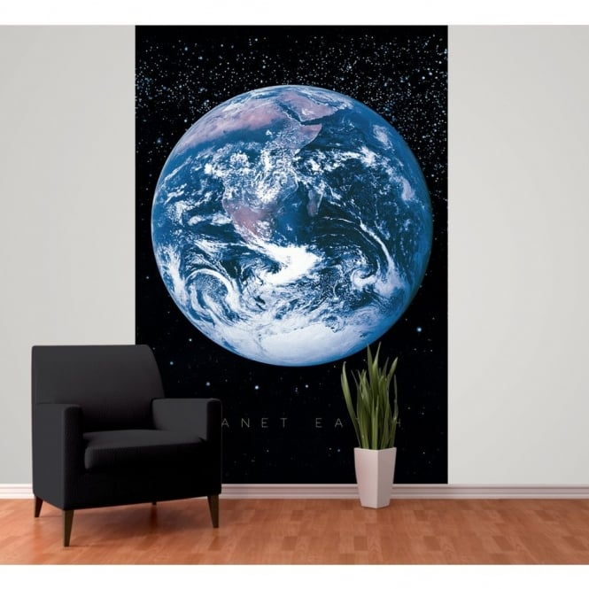 1 Wall Planet Earth Space Globe Wallpaper Mural 1.58m x 2.32m