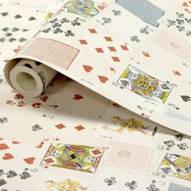 1 Wall Playing Cards Pattern Poker Gambling Motif Wallpaper W10MCARD01