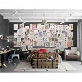 1 Wall Playing Cards Poker 64 Piece Creative Collage Wall Art