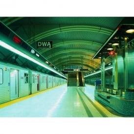 1 Wall Subway Train Platform Photo Mural Giant Poster 3.15 x 2.32m W4P-SUBWAY-A-001