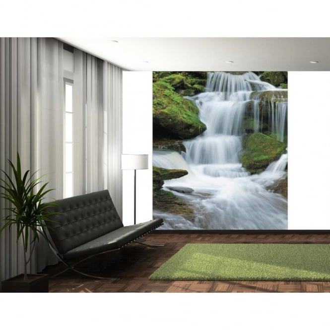 1 Wall Tropical Forest Waterfall Wallpaper Mural 1.58m x 2.32m
