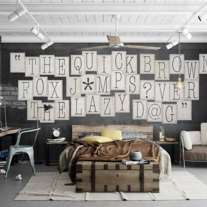 1 Wall Typography Letters 64 Piece Creative Collage Wall Art C64P-TYPO-002