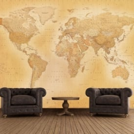1 Wall Vintage Old Map Giant Wallpaper Mural Vintage-003