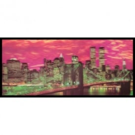 3D Wall Art Brooklyn Bridge New York Skyline Framed Lenticular Picture 84-2513