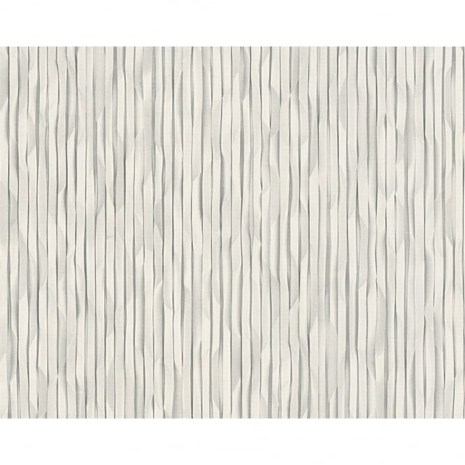 A.S. Creation AS Creation 3D Effect Paper Stripe Pattern Wallpaper Faux Effect Textured 306861
