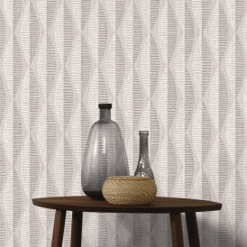 AS Creation Abstract Leaf Pattern Wallpaper Geometric Stripe Motif Textured 304171
