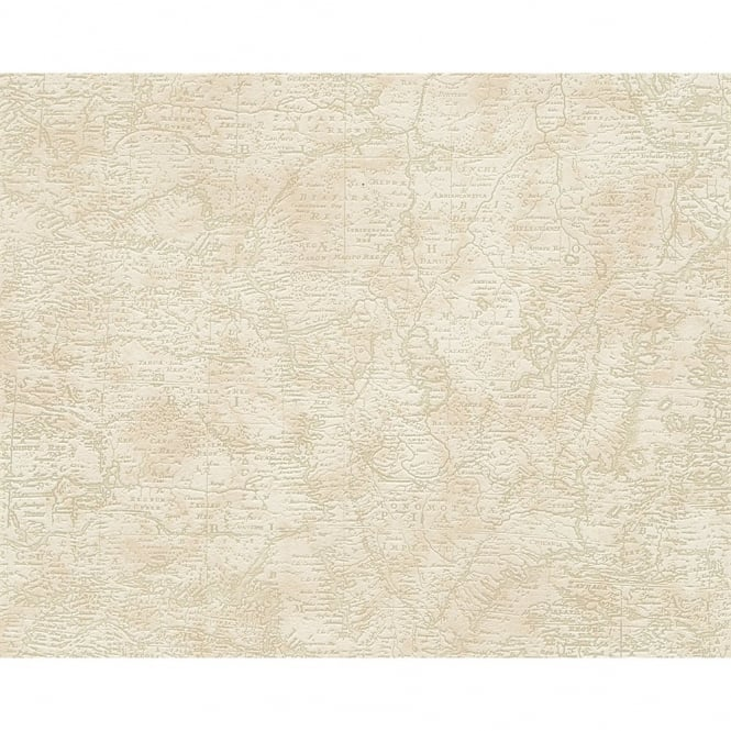 A.S. Creation AS Creation Africa Map Pattern Embossed Textured Vinyl Mural Wallpaper 958962