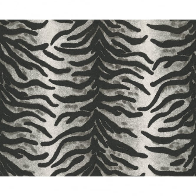 A.S. Creation AS Creation Animal Fur Pattern Tiger Zebra Vinyl Textured Wallpaper 663221