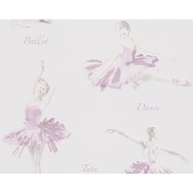 AS Creation Ballet Dancer Pattern Glitter Motif Embossed Childrens Wallpaper 305282