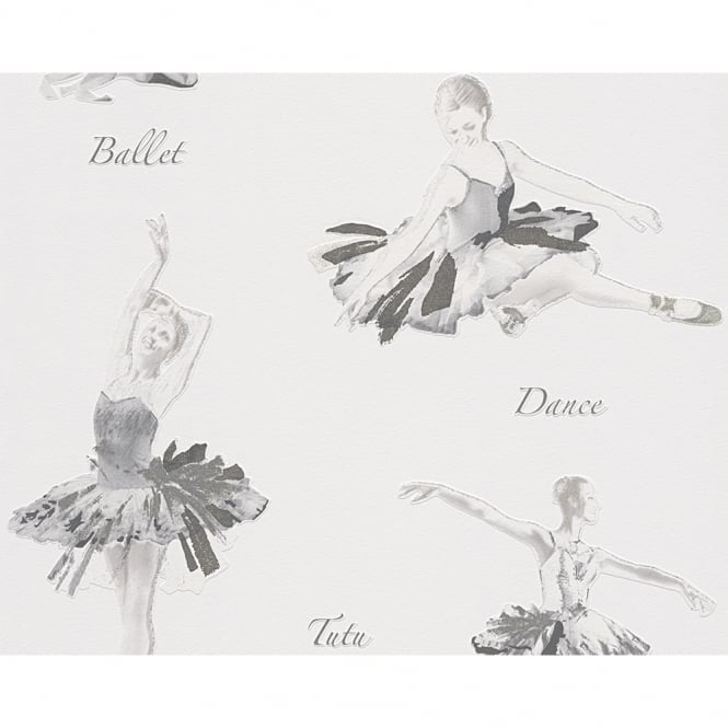 A.S. Creation AS Creation Ballet Dancer Pattern Glitter Motif Embossed Childrens Wallpaper 305283