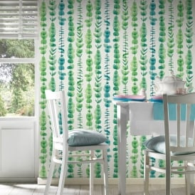 AS Creation Botanical Leaf Pattern Wallpaper Leaves Stripe Motif Textured 342464