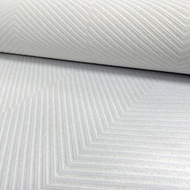 A.S. Creation AS Creation Chevron Stripe Pattern Wallpaper Modern Embossed Glitter Motif 306981