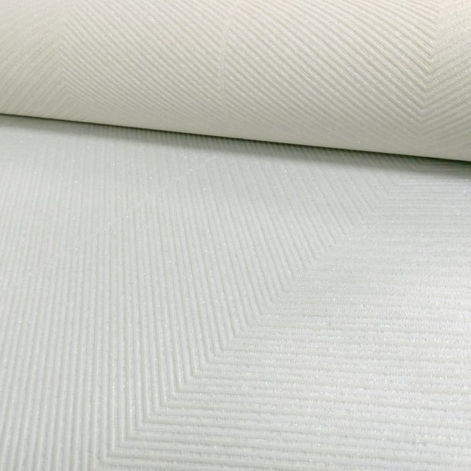 A.S. Creation AS Creation Chevron Stripe Pattern Wallpaper Modern Embossed Glitter Motif 306984