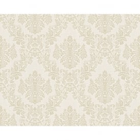 AS Creation Classic Baroque Damask Pattern Floral Motif Textured Wallpaper 304956