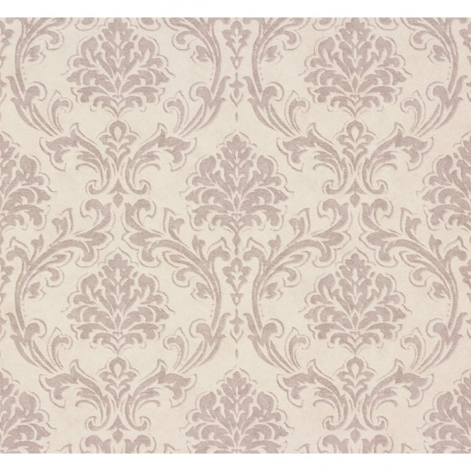 A.S. Creation AS Creation Classic Damask Pattern Fabric Motif Textured Vinyl Wallpaper 305043