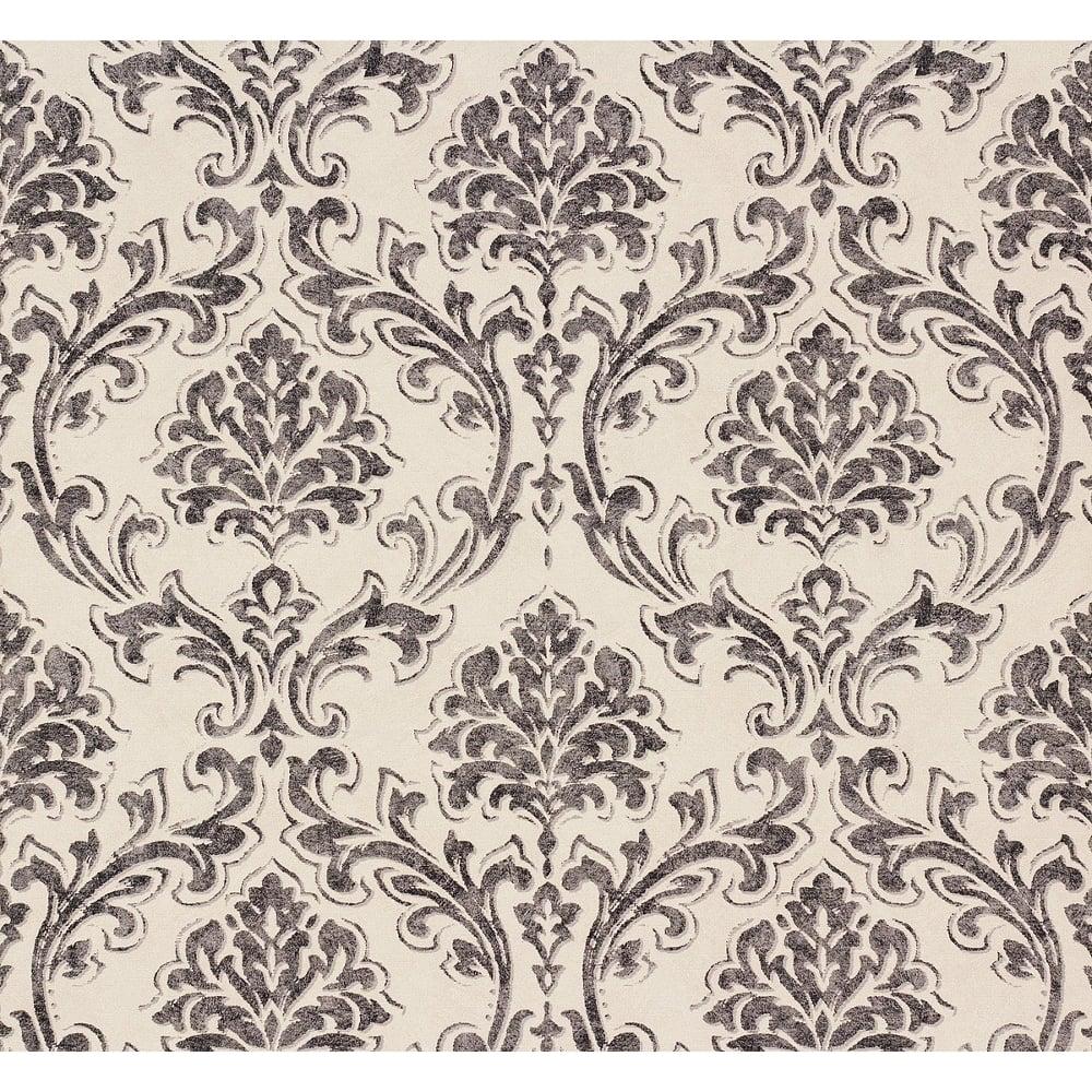 AS Creation Classic Damask Pattern Fabric Motif Textured Vinyl Wallpaper 305045