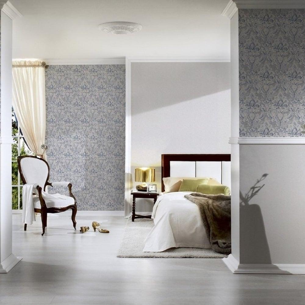 as creation damask pattern paint motif textured vinyl wallpaper 304946. Black Bedroom Furniture Sets. Home Design Ideas
