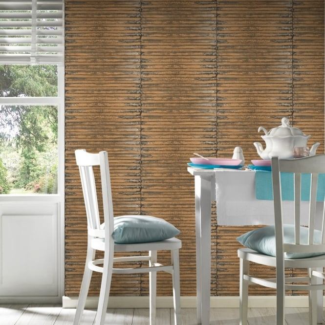 A.S. Creation AS Creation Corrugated Iron Metal Wallpaper Stripe Pattern Realistic Textured 307562