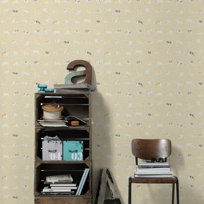 A.S. Creation AS Creation Cow Pattern Kitchen Wallpaper Polka Dot Spots Motif Embossed 324591