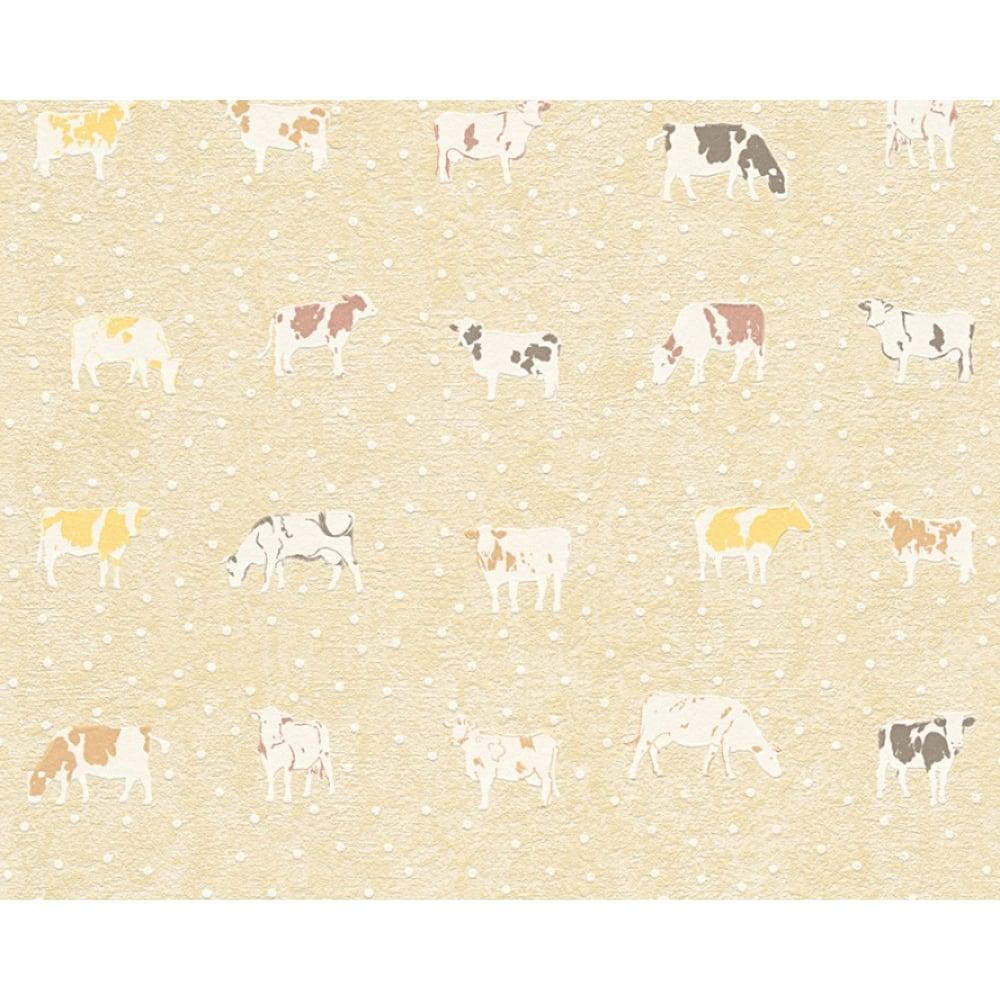 Kitchen Wallpaper As Creation Cow Pattern Kitchen Wallpaper Polka Dot Spots Motif 324591