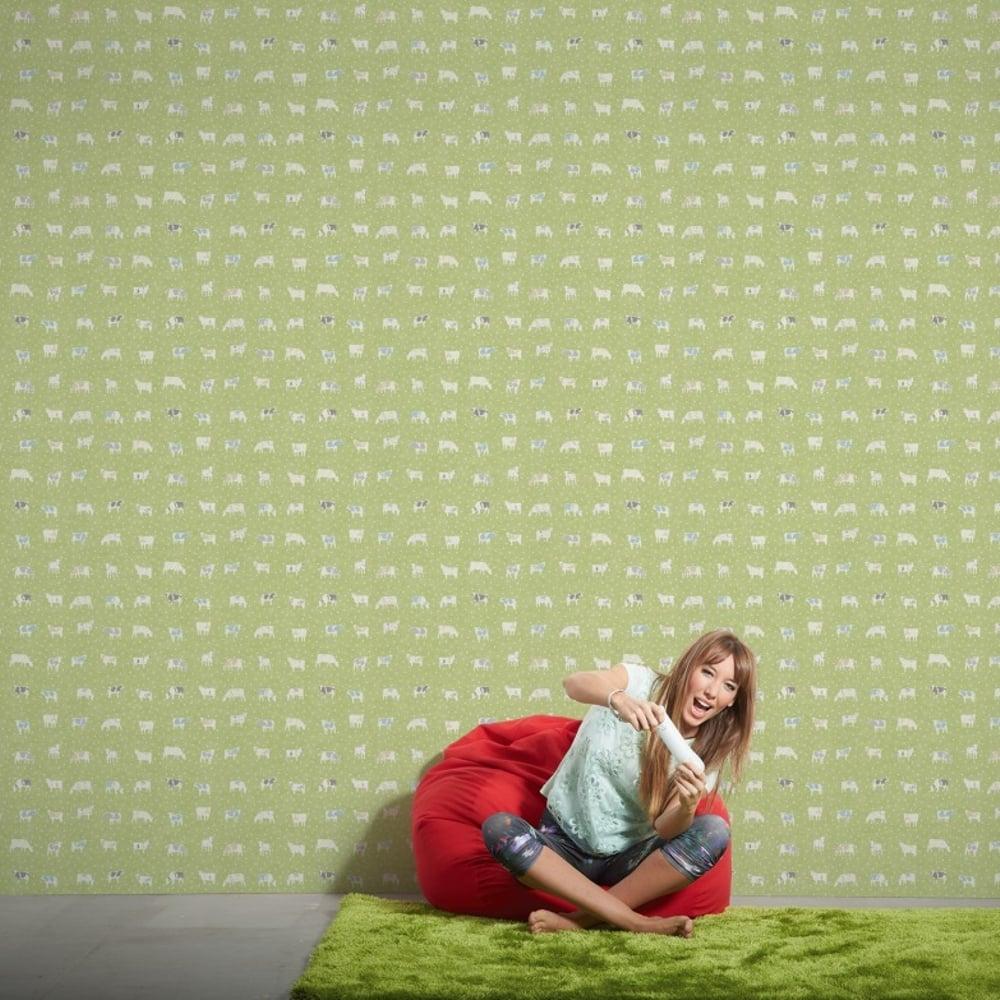 Kitchen Wallpaper Green: AS Creation Cow Pattern Kitchen Wallpaper Polka Dot Spots