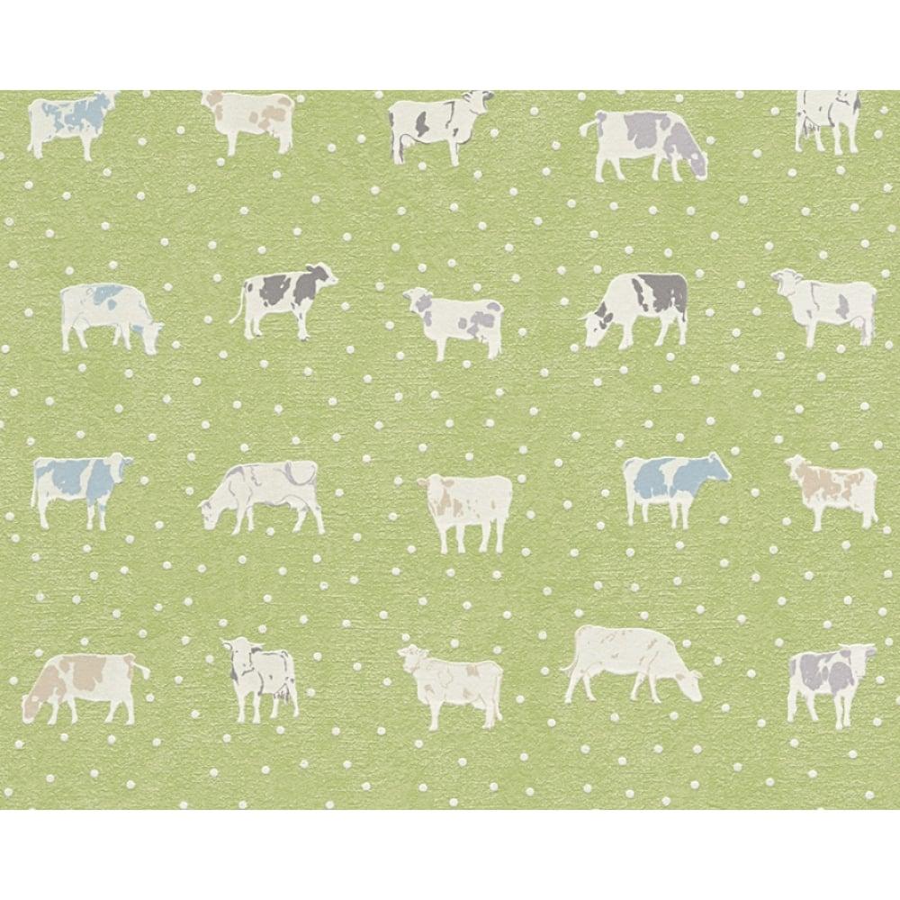 AS Creation Cow Pattern Kitchen Wallpaper Polka Dot Spots Motif Embossed  324592