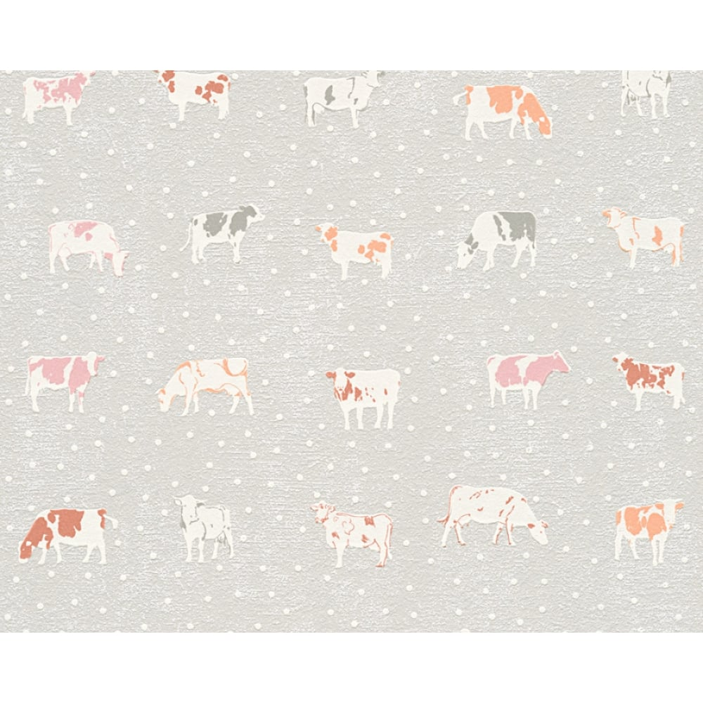 As Creation Cow Pattern Kitchen Wallpaper Polka Dot Spots Motif
