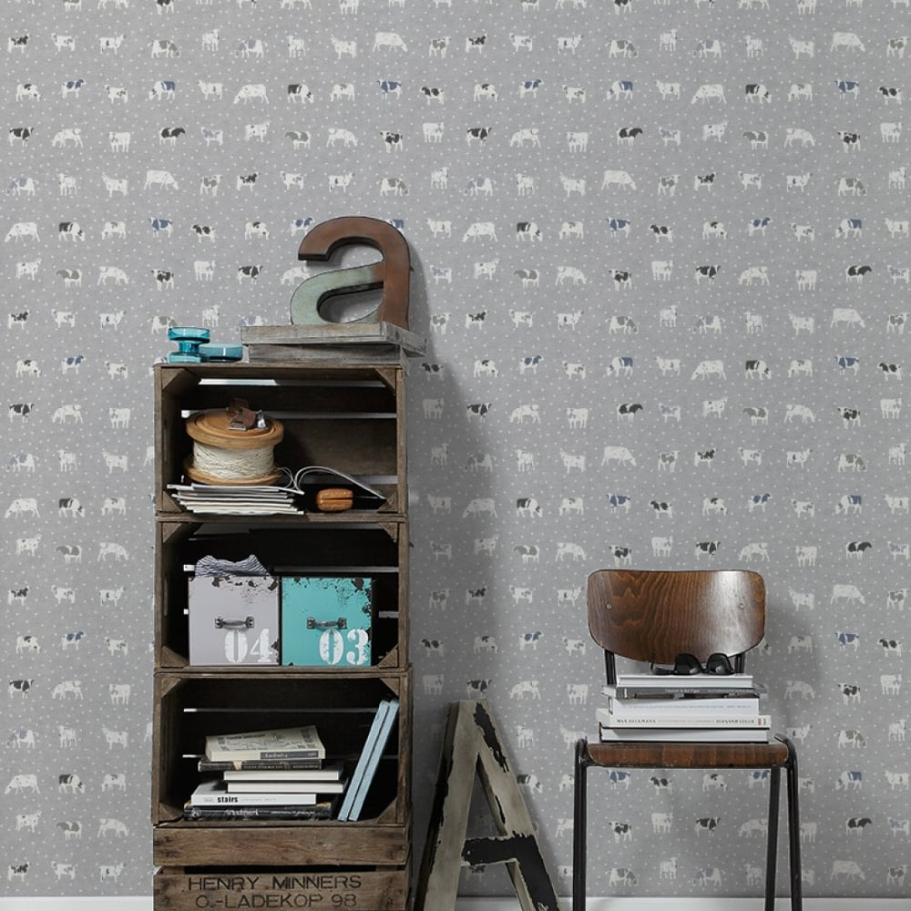 Attrayant AS Creation Cow Pattern Kitchen Wallpaper Polka Dot Spots Motif Embossed  324594