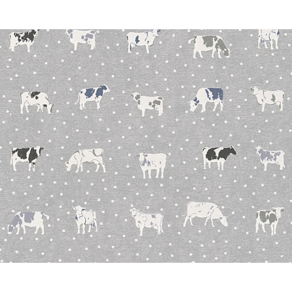 AS Creation Cow Pattern Kitchen Wallpaper Polka Dot Spots Motif Embossed  324594