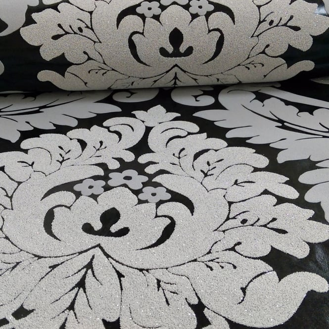 A.S. Creation AS Creation Damask Pattern Wallpaper Floral Leaf Embossed Glitter Motif 313942