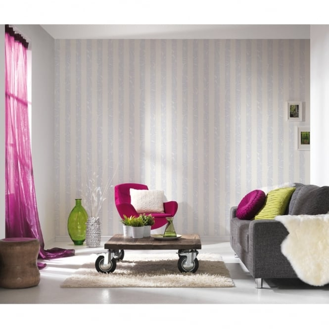 A.S. Creation AS Creation ESprit Stripe Pattern Wallpaper Palm Leaf Flower Designer Embossed 327602
