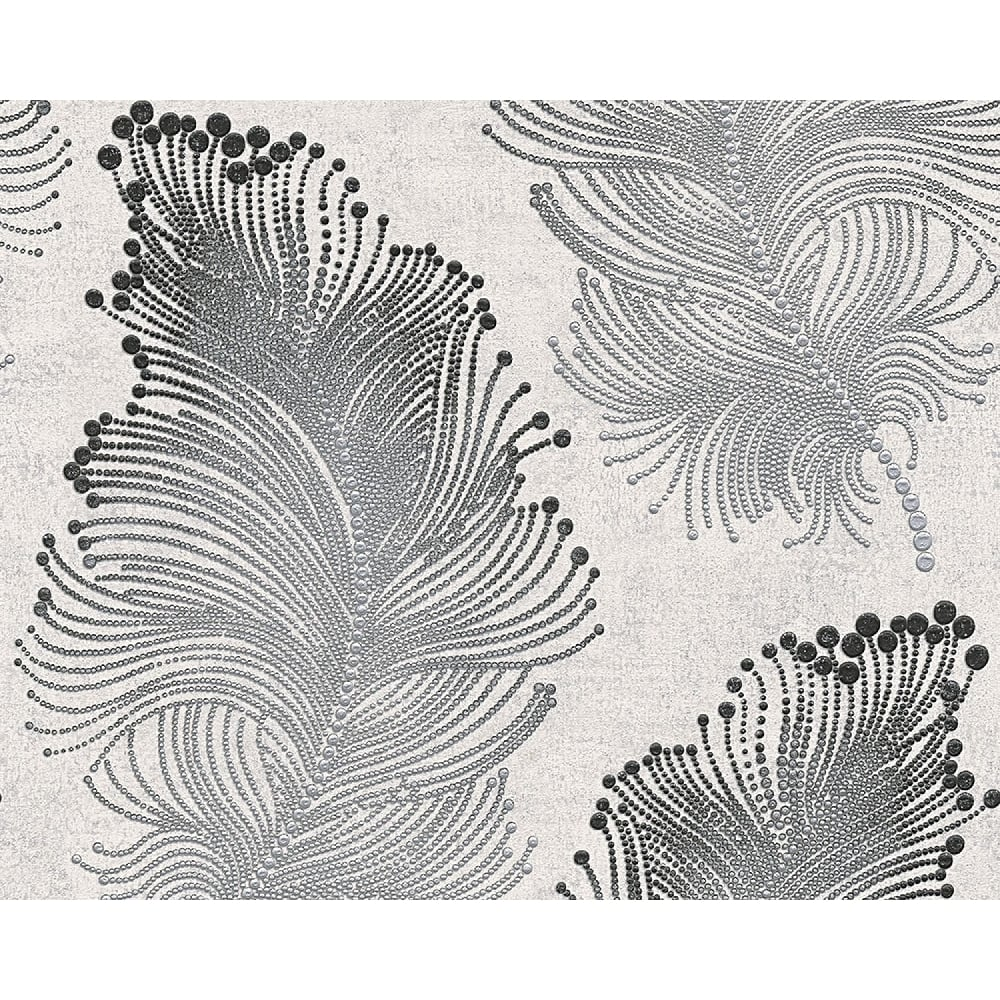 AS Creation Feather Pattern Wallpaper Modern Metallic Spots Textured 960456