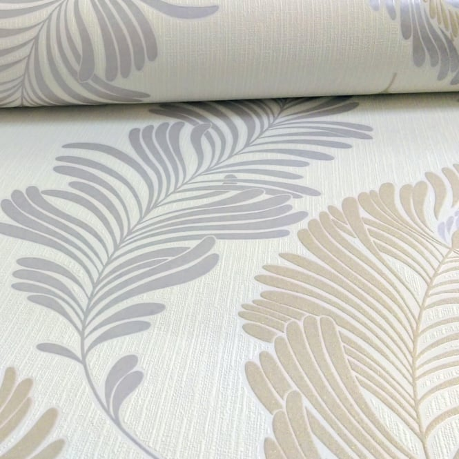 A.S. Creation AS Creation Fern Leaf Pattern Wallpaper Glitter Motif Embossed Textured Vinyl 305091