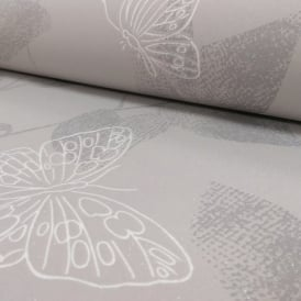 AS Creation Floral Leaf Pattern Butterfly Motif Glitter Textured Wallpaper 304322