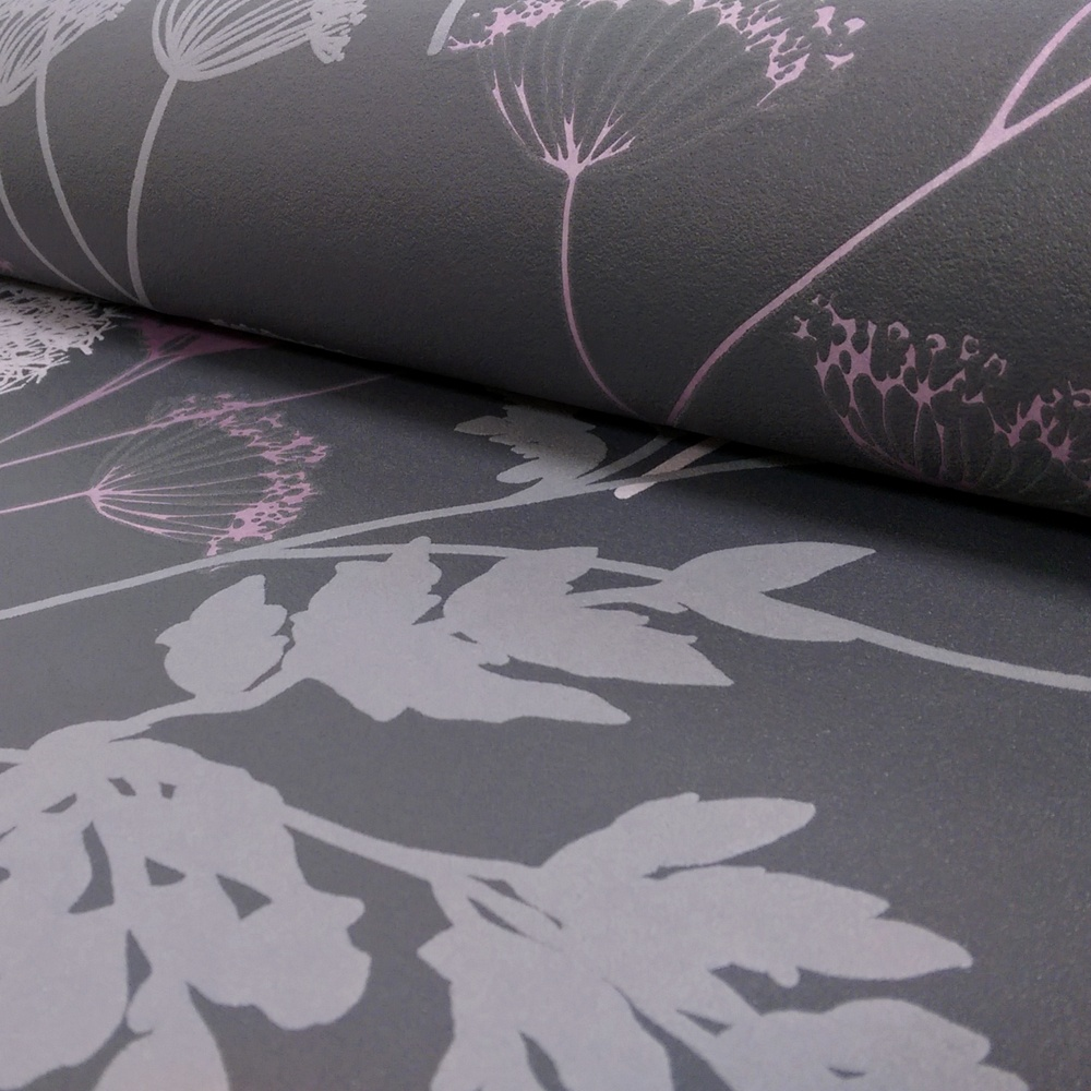 NEW AS CREATION FLORAL PATTERN FLOWER SILHOUETTE MOTIF EMBOSSED WALLPAPER 302939