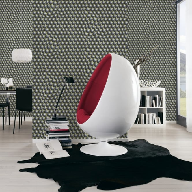 A.S. Creation AS Creation Geometric Bubble Pattern Wallpaper Abstract Circle Motif Textured 327201