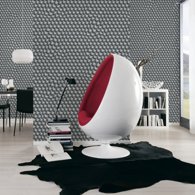 A.S. Creation AS Creation Geometric Bubble Pattern Wallpaper Abstract Circle Motif Textured 327203