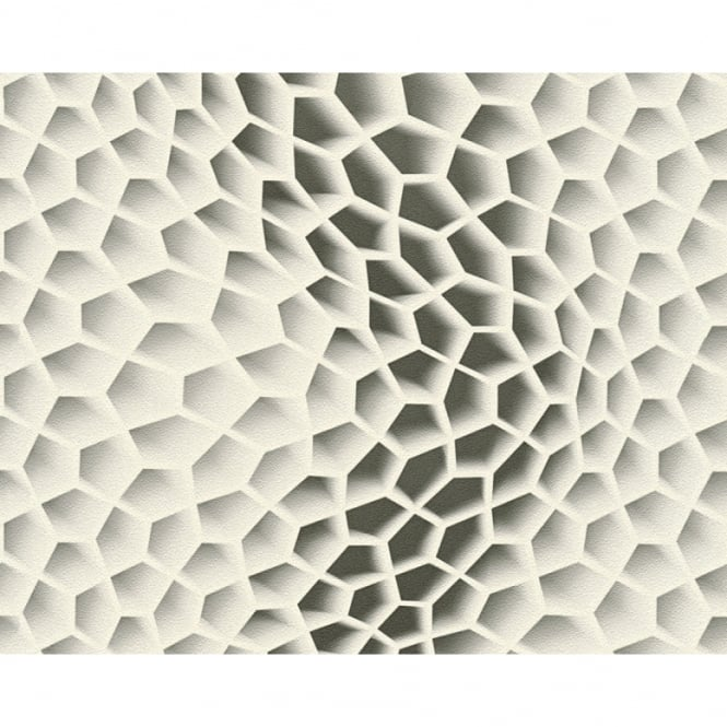 A.S. Creation AS Creation Geometric Honeycomb Pattern Wallpaper Abstract 3D Textured 327093
