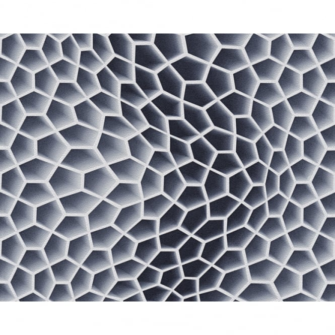 A.S. Creation AS Creation Geometric Honeycomb Pattern Wallpaper Abstract 3D Textured 327094