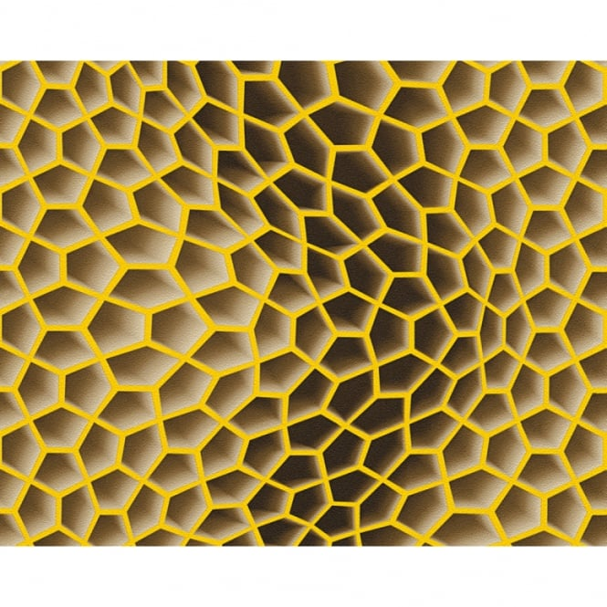 A.S. Creation AS Creation Geometric Honeycomb Pattern Wallpaper Abstract 3D Textured 327095