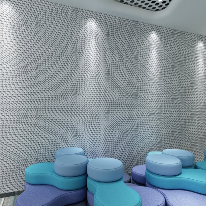 A.S. Creation AS Creation Geometric Mesh Pattern Wallpaper Abstract 3D Web Circle Textured 327072