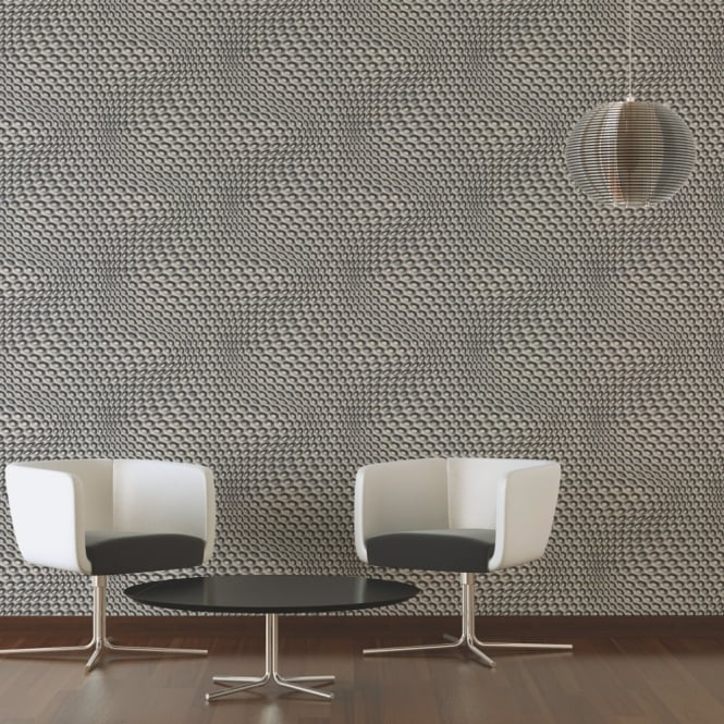 A.S. Creation AS Creation Geometric Mesh Pattern Wallpaper Abstract 3D Web Circle Textured 327073