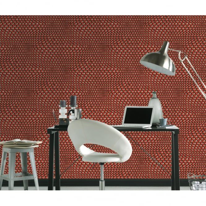 A.S. Creation AS Creation Geometric Mesh Pattern Wallpaper Abstract 3D Web Circle Textured 327075