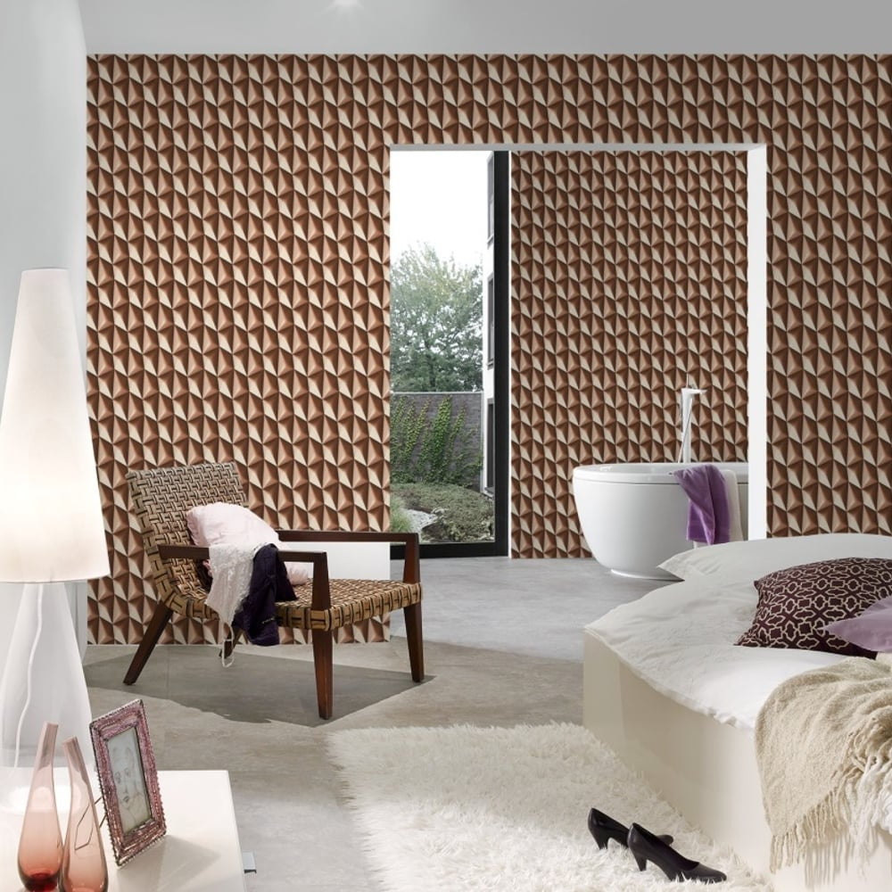 AS Creation Geometric Square Pattern Wallpaper Abstract Effect 327086