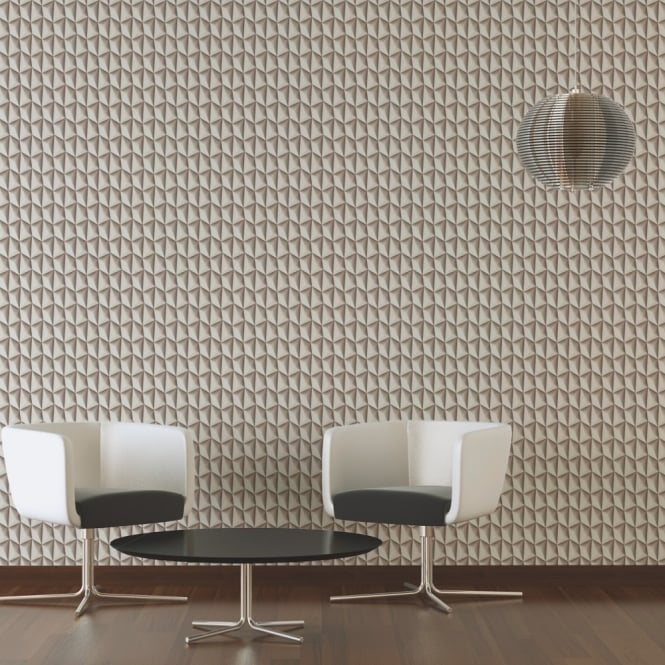 A.S. Creation AS Creation Geometric Square Pattern Wallpaper Abstract Triangle 3D Effect 327087