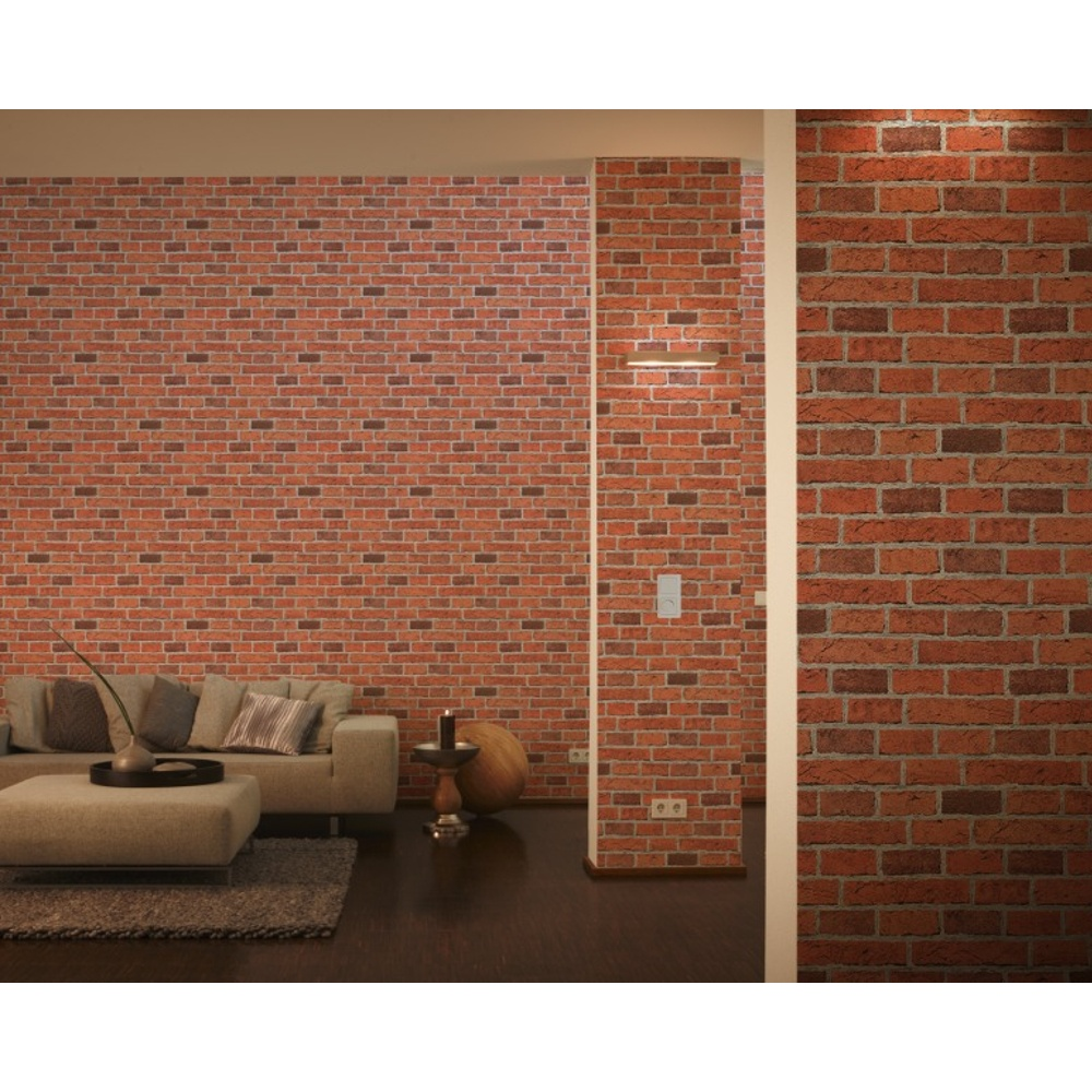 AS Creation House Brick Pattern Faux Effect Embossed Wallpaper ...