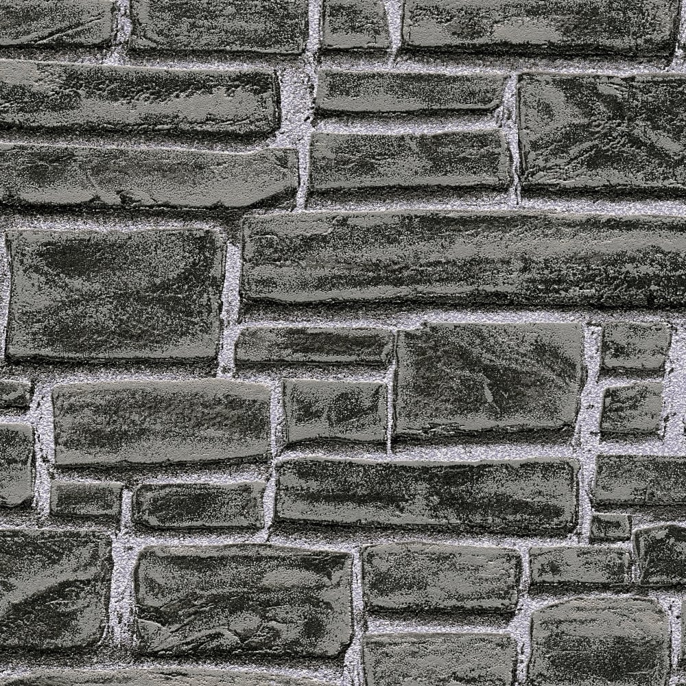 A S Creation As Creation House Brick Pattern Wallpaper Faux Effect Embossed Textured 662330