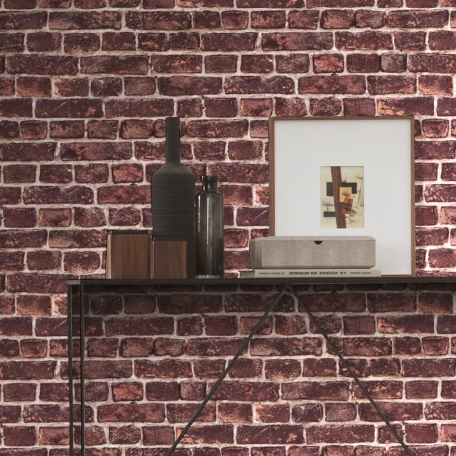 A.S. Creation AS Creation House Brick Pattern Wallpaper Realistic Stone Effect Textured 306821
